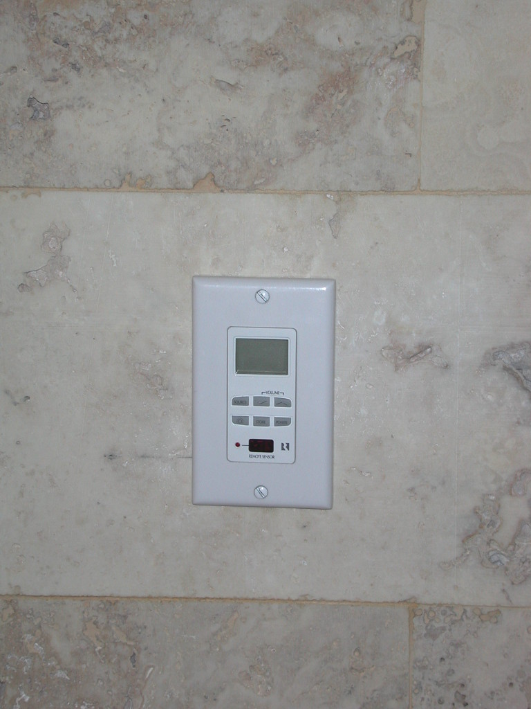 KEYPAD INSTALLED INTO MARBLE - GABERONE - BOTSWANA